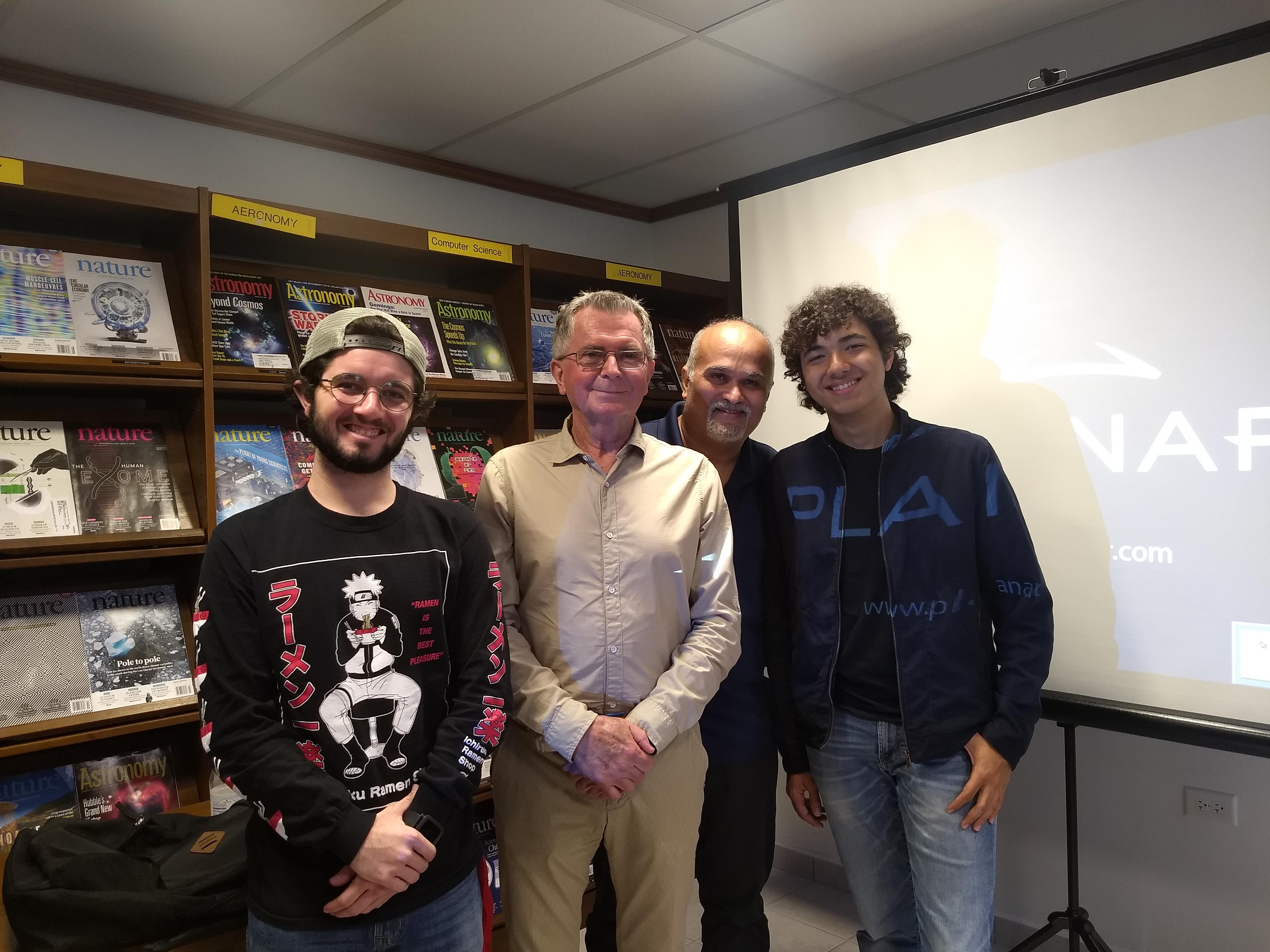 Dr. Alex Wolszczan, Dr. Abel Mendez & students